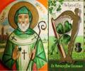 San Patricio sacó todas las serpientes de Irlanda y éstas se fueron al mar, donde se ahogaron